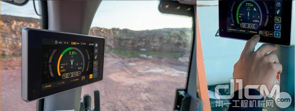 凯斯G系列增强功能采用了全新的触摸屏显示器