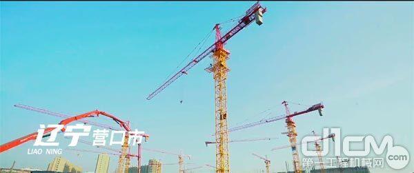 三一塔机在山东潍坊市