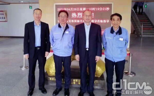 吴培国秘书长走访日立建机(中国)有限公司