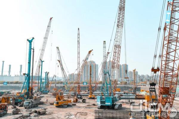 山河智能装备参与北京城市副中心交通枢纽工程