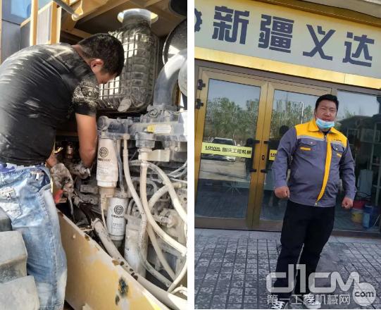 """马刚,新疆义达服务部一名拥有多年设备维护经验的""""老师傅"""""""