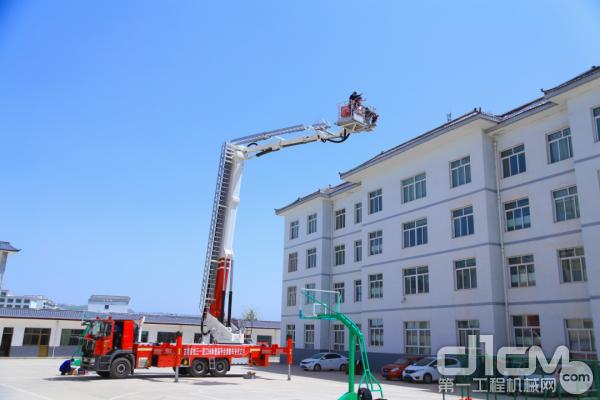 消防车平台载人测试