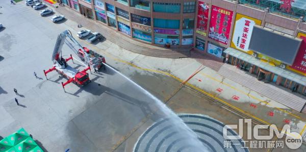 消防车打水测试