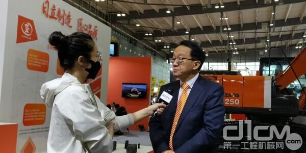 日立建机(上海)有限公司董事总经理程晓明接受CCTV专访