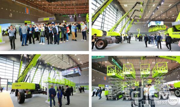 中联重科智能高机携18台代表着中联重科最前沿技术的智能高机产品亮相