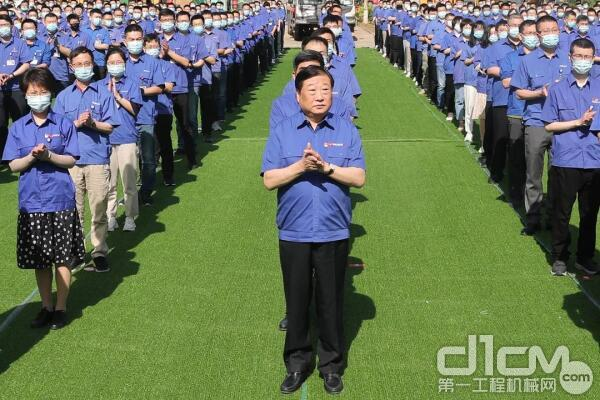 谭旭光宣布建设项目正式开工