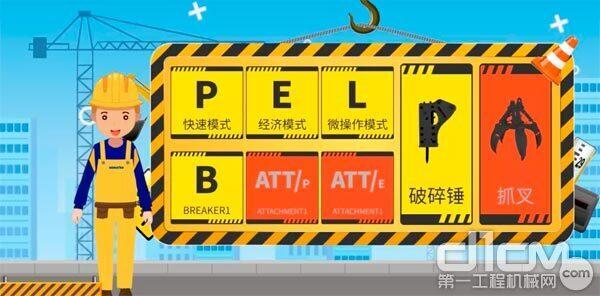 当使用抓叉(属具)时需选用ATTE/ATTP模式