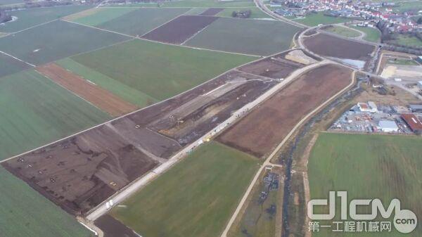 位于爱茵根的德国南部新维修中心的建设工作正在进行中