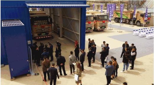 2021年4月,徐工新能源渣土车换电运营河南示范项目交付仪式在商丘举行