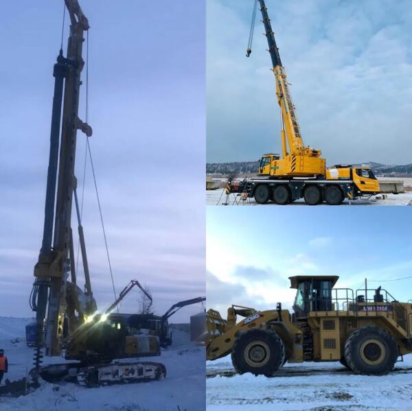 起重机、挖掘机、装载机、旋挖钻机等傲霜斗雪、逆风前行