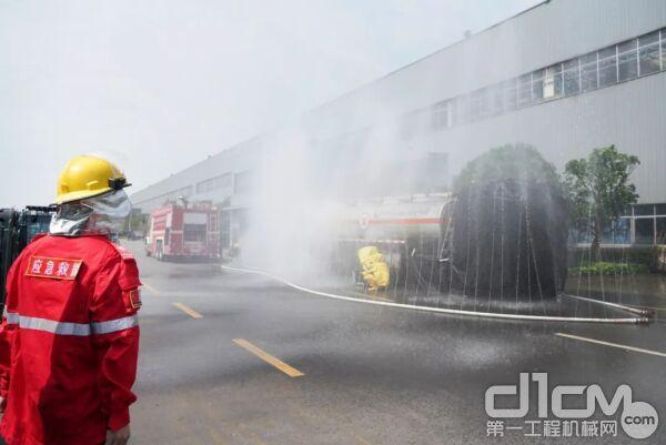 2021年长沙市工贸企业危险化学品综合应急演练在山河智能举行