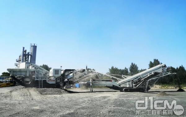 △南方路机移动式建筑垃圾资源化处理解决方案应用于吉林