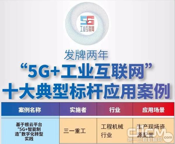 """三一""""5G+工业互联网""""连获重磅认可"""