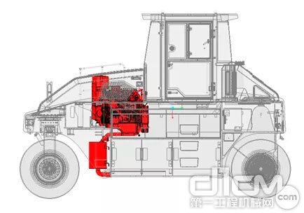 山推SRT30H-C6胶轮压路机结构图