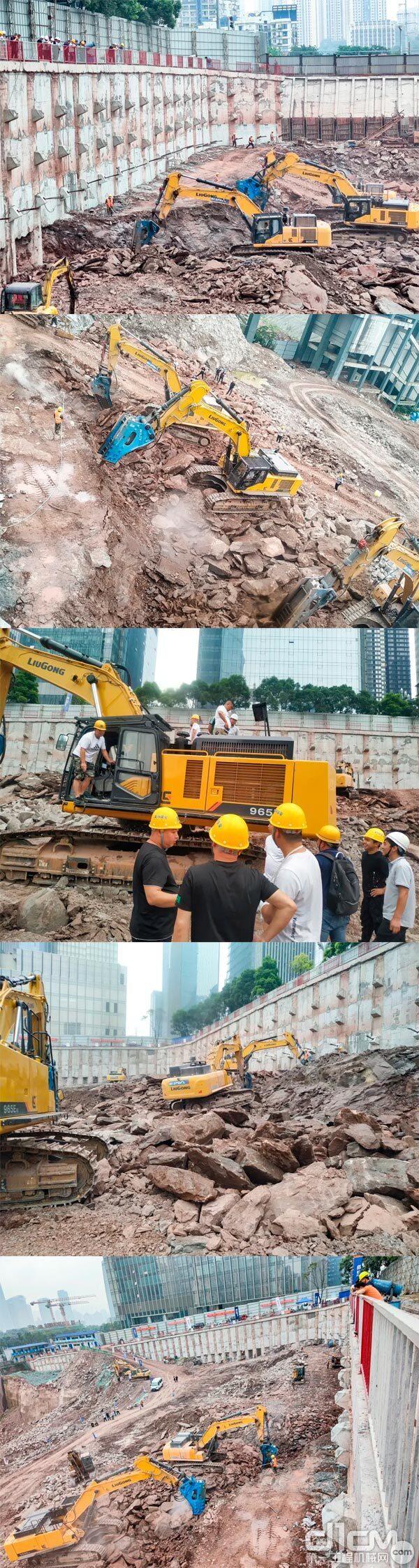 柳工CLG965EHD挖掘机走进重庆