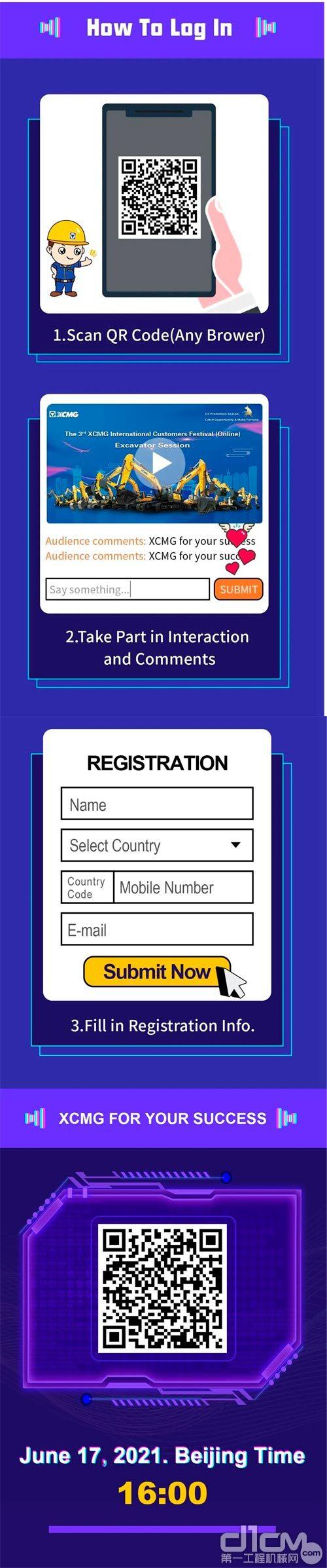 活动注册参与流程