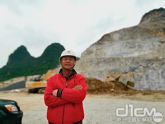 图:柳州祥云建材厂生产负责人蒋总