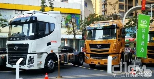 汉马科技已经形成了传统燃油(气)重卡与新能源重卡并驾齐驱的产品阵容