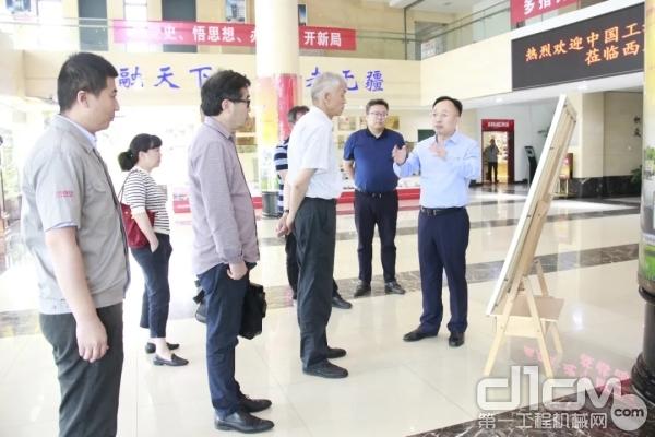 中国工程机械工业协会名誉会长祁俊一行到访中交西筑考察调研