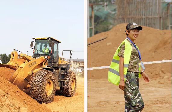 来自邯郸涉县,开了十几年山工机械装载机的张姐