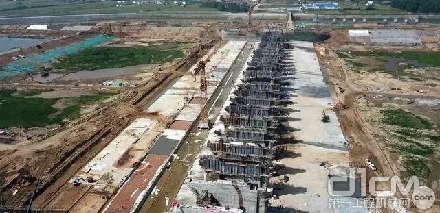 波坦塔机MD1100参与建设大别山革命老区引淮供水灌溉工程建设