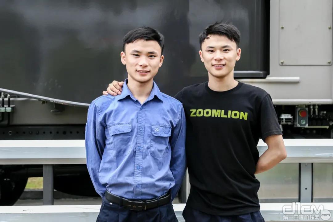 中联重科泵送机械分公司结构件厂双胞胎兄弟黄红兵和黄红军