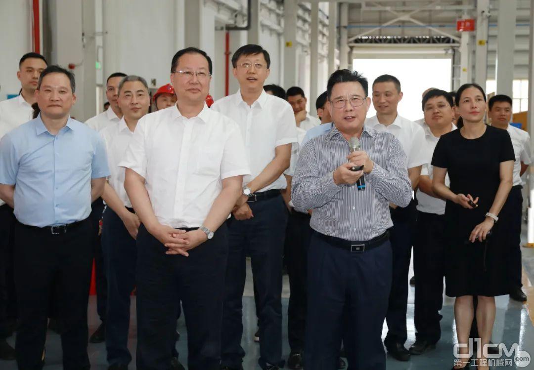湖南省委副书记、省长毛伟明一行来到三一集团涟源产业园