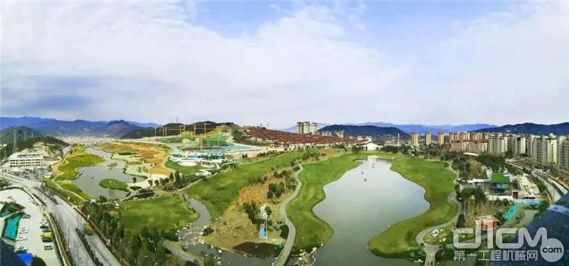 福建省龙岩市的紫金山体育公园
