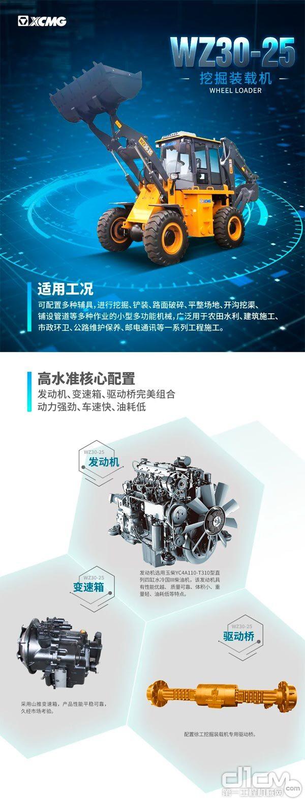 【装载之王·铲业好车】行业经典,徐工WZ30-25挖掘装载机
