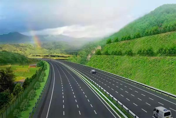 G60沪昆高速公路衢州段拓宽工程正在进行中