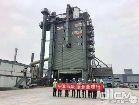 西筑SG40000/J4000+HRS160再生分体式沥青搅拌设备