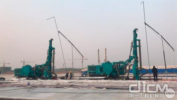 北京大兴机场建设施工拍图