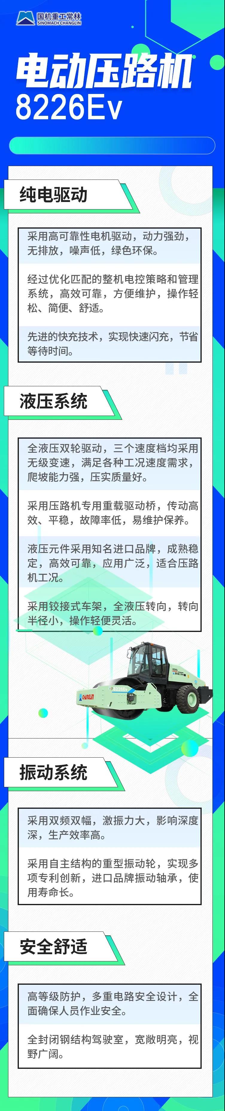 常林纯电动压路机8226Ev国内首发