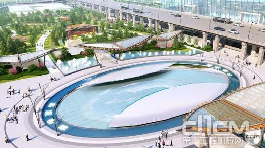 西宁曹家堡国际机场三期扩建工程综合换乘交通中心效果图