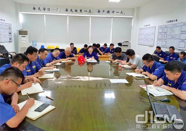 徐工铲运机械事业部召开精益生产阶段总结会