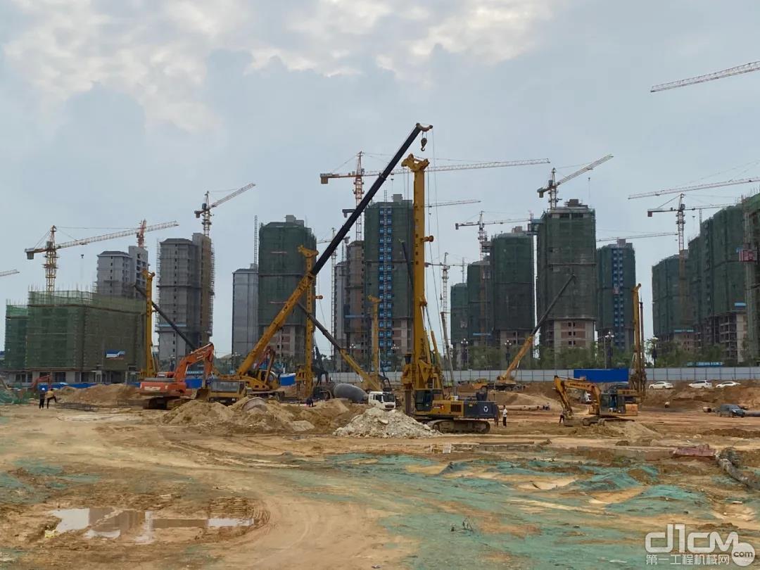 5台徐工旋挖钻机参建江西上饶某房建桩项目