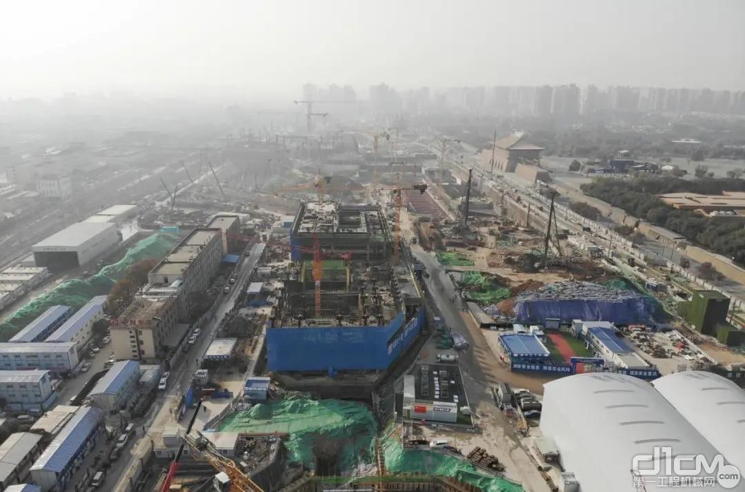 西安火车站改造升级施工航拍图(拍摄于2020年底)