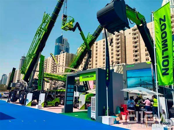 ▲中联重科参加中东迪拜五大行业展