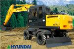 現代R150W-7輪式挖掘機