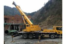 柳工TC250A汽车起重机施工现场全部图片