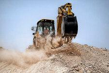 卡特彼勒422F側移挖掘裝載機施工現場27227