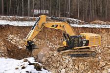 卡特彼勒Cat390FL大型矿用挖掘机施工现场27792
