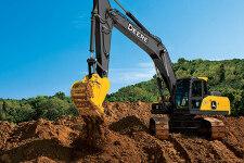 约翰迪尔E300LC履带挖掘机施工现场全部图片