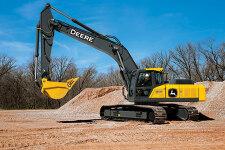约翰迪尔E360LC履带挖掘机施工现场全部图片