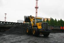 山推SL60W-2輪式裝載機施工現場29820