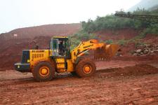 山推SL60W-2轮式装载机施工现场29824