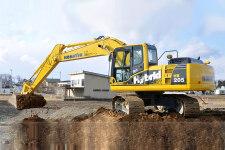 小松HB205-1M0混合动力挖掘机施工现场31639