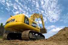 小松HB215LC-1M0混合动力挖掘机施工现场31641