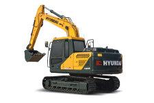 现代R130VS履带挖掘机整机视图全部图片