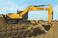 现代R225LVS履带挖掘机施工现场全部图片